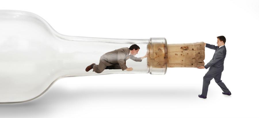 One Man Stuck in a Bottle