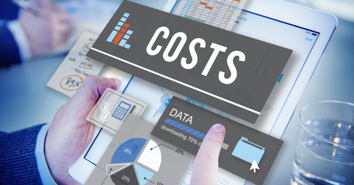 cost analysis in 3D hovering over tablet