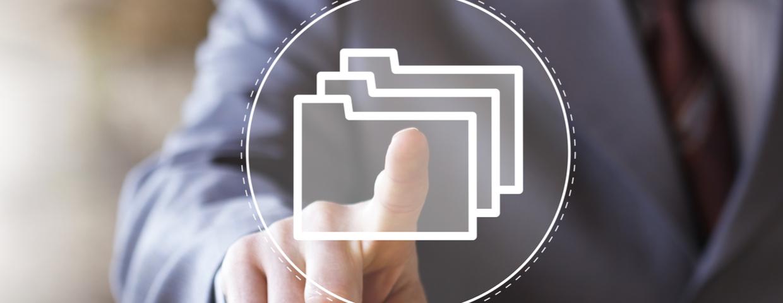 digital folders concept