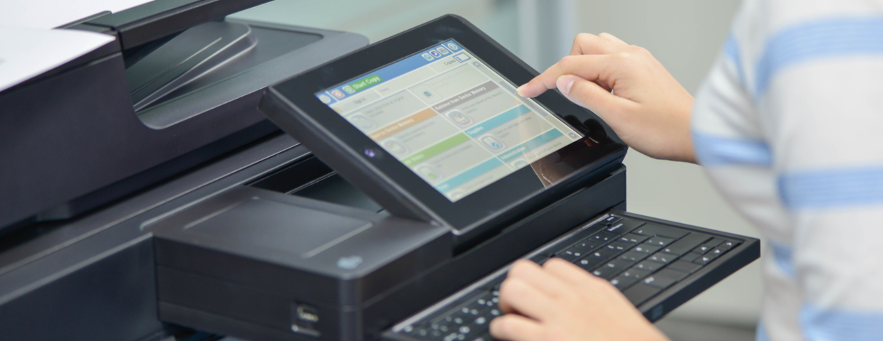 printer with touch screen